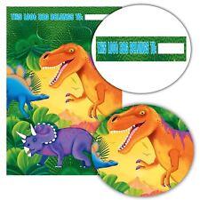 8PC jurassic dinosauro t-rex festa di compleanno sacchetti REGALINI PREISTORIA