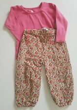 Boden Tea Collection 18-24 Cord Bloomers and Top Set Floral Button Roses Fall