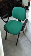 Sedie da ufficio imbottite; colore verde