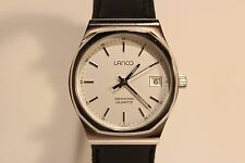 "VINTAGE RARE SWISS ALL STEEL MEN'S QUARTZ WATCH ""LANCO""SEASTAR WITH MOV.""TISSOT"""