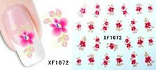 Pink Flower 3D Nail Art Sticker Decal Decoration Manicure Water Transfer