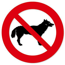 """NO DOGS allowed warning sign sticker 5"""" x 5"""""""