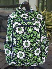 VERA BRADLEY LAPTOP BACKPACK SCHOOL BOOK BAG FLOWERS GREEN $118 in LUCKY YOU