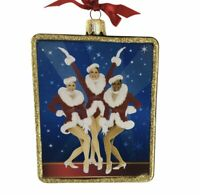 Kurt Adler Rockettes Glass Rectangle Ornament Santa Outfit Christmas Spectacular