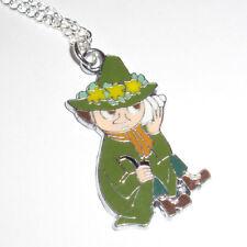Kitsch Kawaii Enamel Moomin Troll Moomin Snuffkin Green Charm necklace