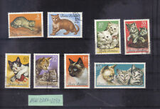 Rumänien 1965: Katzen - Mi. 2387 - 2394 o