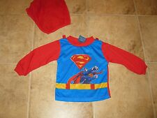 INFANT SIZE 24 MONTHS SUPERMAN PAJAMA SHIRT WITH CAPE **FREE SHIPPING**