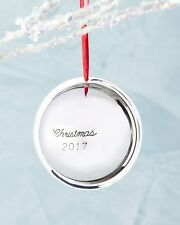 NEW Neiman Marcus 2017 Sterling Silver Saturn Ball Christmas Ornament Decoration