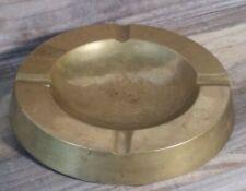 "Vintage Brass Shop Supply Desktop Bar Ashtray 5-1/2"" Wide - Preowned"
