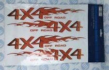 BoyzToyz RY321 4 x Car Bike Window '4X4 Off Road' Flame Novelty Decal Stickers