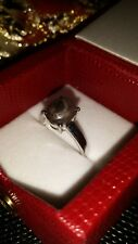 Silber Ring mit Stern Rubin ~ 4,72 Karat ~ Weißgold vergoldet ~ Größe 17 ~