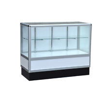 Aluminum showcase 2/3 vision 70 inch frame shelf retail store display
