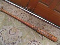 Mark Leonard Autographed Game Used Louisville Slugger Baseball Bat