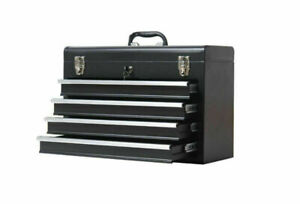 4 Drawers Tool Box Portable Hardware Household Multi-functional Toolbox Black