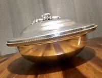 Mid-Century Aluminum Continental Hand Wrought Silverlook Serving Dish Pyrex Bowl