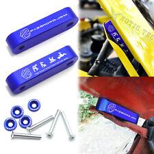 For Acura Honda Blue Billet Hood Vent Spacer Riser JDM Modification Kit + Bolts