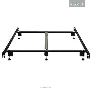 Structures Steelock Headboard-Footboard Super Duty Metal Bed Frame - Queen
