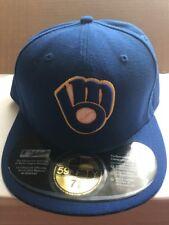 NEW ERA MILWAUKEE BREWERS  CUSTOM FITTED HAT CAP 7 5/8