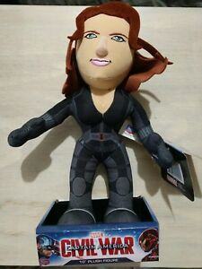 "Captain America Civil War Black Widow 10"" Plush Figure from Breachers Creatures"