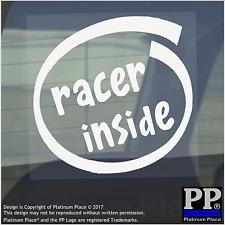 1 X Racer all'interno-Finestra, Auto, Furgone, STICKER, SEGNO, veicolo, RACING, PISTA, velocità, veloce, GTR