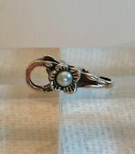 NEW RETIRED Trollbeads Flower Pearl Lock Sterling Silver #10110 Authentic