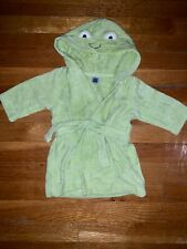 Carter's 0-6 Month Frog Robe With Belt Hooded