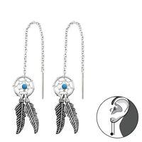 925 Sterling Silver Dream Catcher Threader Earrings
