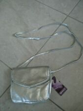 SMALL ACROSS THE BODY SILVER BAG