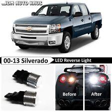 White HIgh Power Reverse Backup LED Lights Bulb Fits 2000-2013 Chevy Silverado