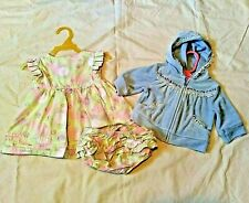 Lot of 3 Baby Girl Clothes Size 3-6 Months Gymboree George Dress Bottoms Jacket