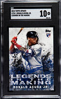 2018 Topps Update Ronald Acuna Jr. RC Legends In The Making SGC 10 Atlanta