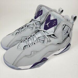 Nike Air Jordan True Flight GRADE SCHOOL SIZE 7Y, Wolf Grey / Court Purple Black