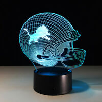 Detroit Lions LED Light Lamp Collectible Matt Stafford Home Decor Gift