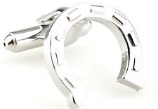 High Quality Cufflinks Horse Shoe silver Colour Cuff links horseshoes Luck Lucky