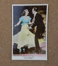 Ginger Rogers & Fred Astaire Film card Real photo postcard  xc2