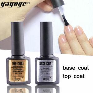 2pcs Base & Top Coat Gel Nail Polish UV Soak Off Primer Gel Polish Gel 10ml
