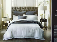 Sheridan Holloway 400TC Cotton Queen Size Bed Quilt Cover Pillowcases Set Snow