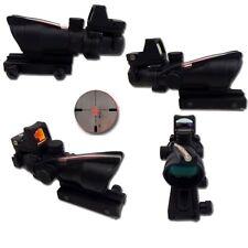 OTTICA SOFTAIR 4X32 ACOG FIBRA + MICRO DOT - NERO BLACK  COD.6061 AIRSOFT SIGHT