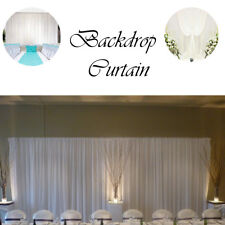 Backdrop Curtain White for Wedding Party Photography Event Without Swag Glaçon