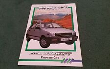 April 1986 SUZUKI ALTO SWIFT inc GS - UK BROCHURE