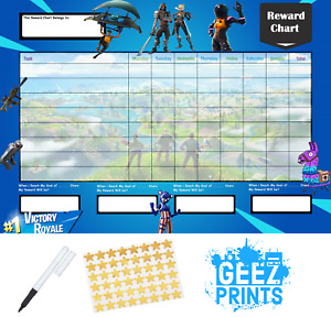 Battle Reward Behaviour Chart Free Pen & Stickers, Free P&P!