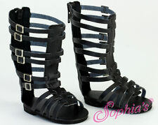 "Doll Clothes AG 18"" Sandals Gladiator Black Sophia Made For American Girl Dolls"