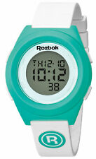 REEBOK Di-R Block Party Unisex Digital Sport Watch White Green RC-DBP-L9-PTPW-WB