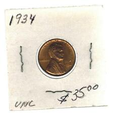1934  USA Lincoln Wheat One cent coin Penny