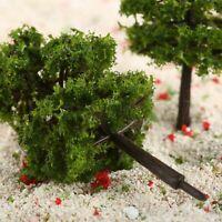 20pcs 9cm HO OO Scale Model Trees Train Railroad Layout Diorama Wargame US STOCK