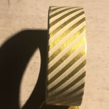 Washi Tape ~ white & gold vertical stripes 1cm