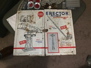Gilbert Erector Set No 10231 The Rare ASTRONAUT Set 1959 Or 1962~All metal box