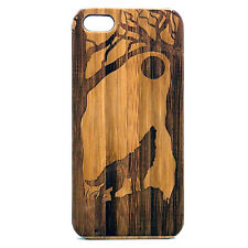 Wolf Case made for iPhone 8 Plus phone Durable Bamboo Wood Cover Howli