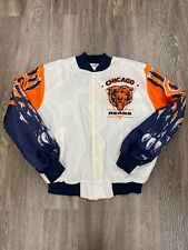 VTG 90s Chalk Line NFL Chicago Bears Retro Fanimation Bomber Jacket Large