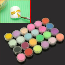 24x Farbe Nagel Acryl Pulver Kit Acrylpuder Tips Profi-Farbpulver Nail Art DIY